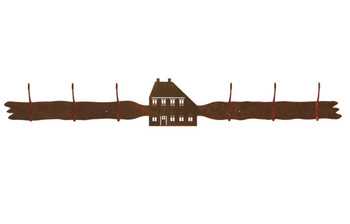 Salt Box House Six Hook Metal Wall Coat Rack