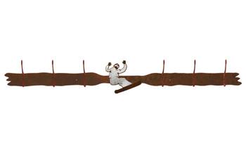 Burnished Snowboarder Six Hook Metal Wall Coat Rack