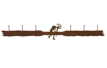 Kokopelli Six Hook Metal Wall Coat Rack