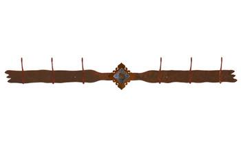 Unakite Stone Six Hook Metal Wall Coat Rack