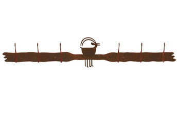 Ram Goat Six Hook Metal Wall Coat Rack
