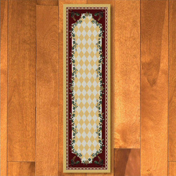 2' x 8' High Country Rooster Yellow Rectangle Runner Rug