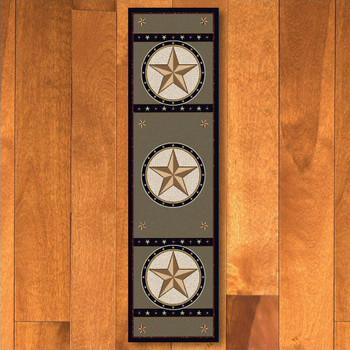 2' x 8' Sage Star Green Western Rectangle Runner Rug
