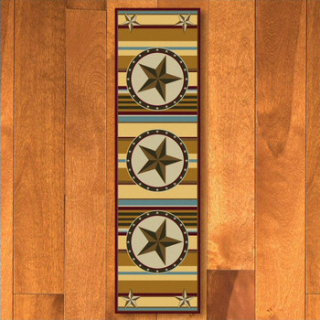 2' x 8' Hacienda Star Maize Western Rectangle Runner Rug