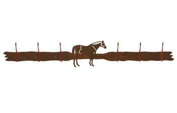 Bay Horse Six Hook Metal Wall Coat Rack