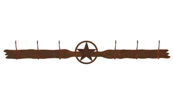 Texas Star Six Hook Metal Wall Coat Rack