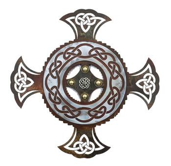 "16"" Celtic Cross Metal Wall Art"