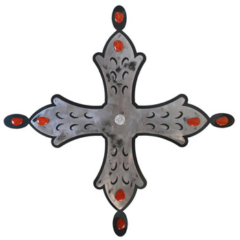 "26"" Harvest Cross Metal Wall Art"