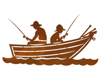 "20"" Row Boaters Metal Wall Art"