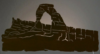 "42"" Delicate Arch Scene LED Back Lit Lighted Metal Wall Art"