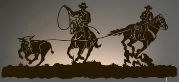 "42"" Team Cowboy Ropers LED Back Lit Lighted Metal Wall Art"