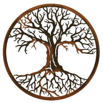 "22"" Tree of Life Metal Wall Art"