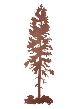 "38"" Lodge Pole Tree Metal Wall Art"