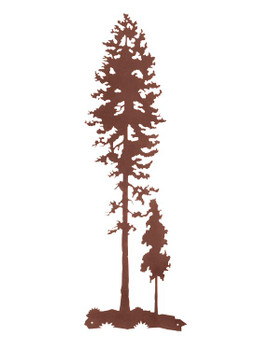 "41"" Tall Lodge Poles Tree Metal Wall Art"