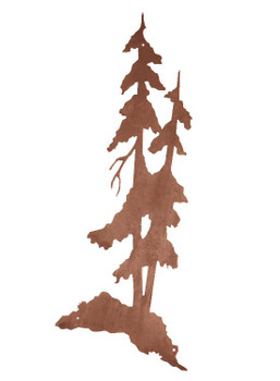 "42"" Tall Pine Trees Metal Wall Art"