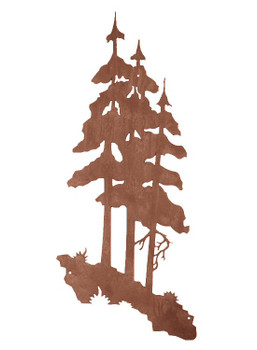 "37"" Pine Trees Metal Wall Art"