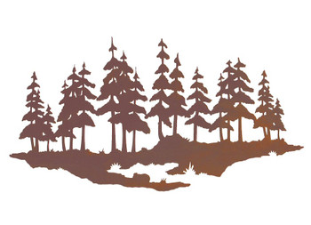 "20"" Pine Tree Forest Metal Wall Art"
