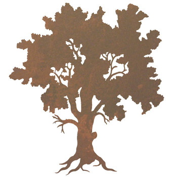 "30"" Oak Tree Metal Wall Art"
