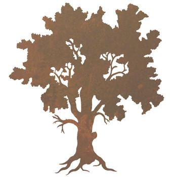 """30"""" Oak Tree Metal Wall Art"""