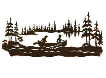 "57"" Canoe Scenic Metal Wall Art"