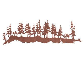 "57"" Wild Pine Tree Forest Metal Wall Art"