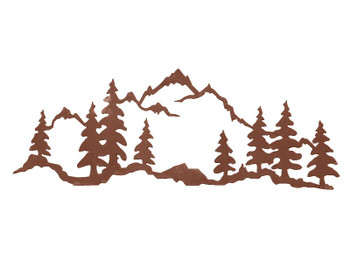 "42"" Mountain Scene Metal Wall Art"