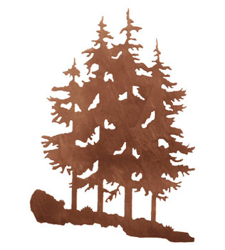 "30"" Pine Trees Metal Wall Art"