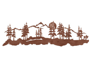 "42"" Midnight Moon with Pine Trees Metal Wall Art"
