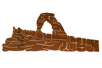 "42"" Delicate Arch Metal Wall Art"