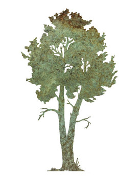 "30"" Aspen Tree Metal Wall Art"