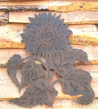 "30"" Sunflowers Metal Wall Art"