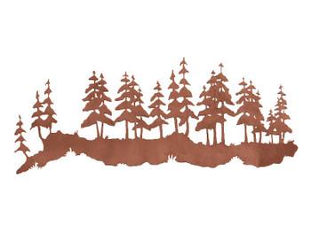 "42"" Pine Forest Metal Wall Art"