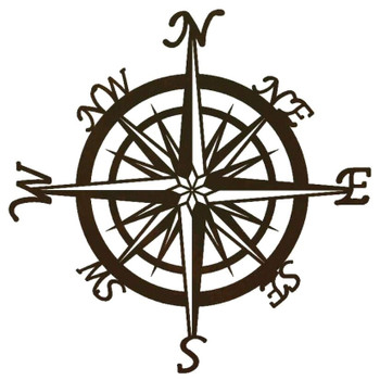 "30"" Compass Metal Wall Art"