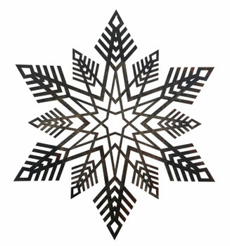 "16"" Snowflake Metal Wall Art"
