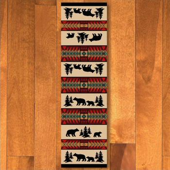 2' x 8' Bear Adventure Red Wildlife Rectangle Runner Rug