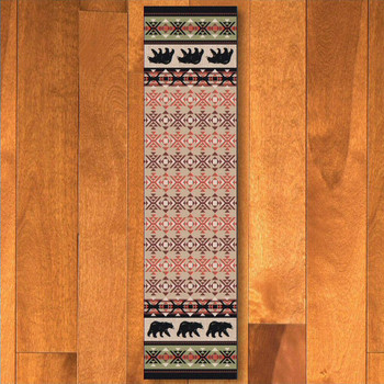 2' x 8' Cozy Bears Wildlife Rectangle Runner Rug