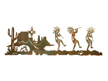 "57"" Dancing Kokopellis Metal Wall Art"