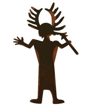 "30"" Antler Man Metal Wall Art"