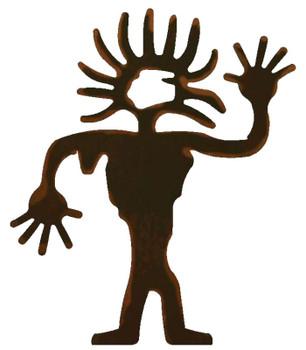 "30"" Sun Head Man Metal Wall Art"