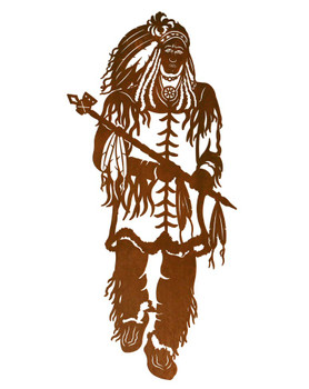 "42"" Indian Chief Metal Wall Art"