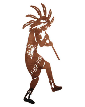 "42"" Dancing Flute Player Metal Wall Art"