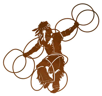 "42"" Hoop Dancer Two Metal Wall Art"