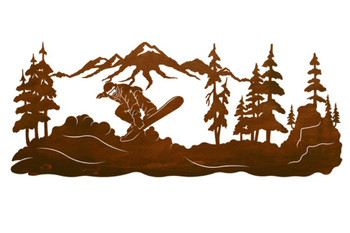 """42"""" Snowboarder Metal Wall Art"""