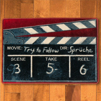 3' x 4' Film Slate Red Rectangle Scatter Rug