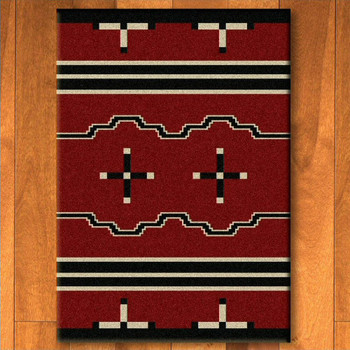 3' x 4' Big Chief Red Southwest Rectangle Scatter Rug