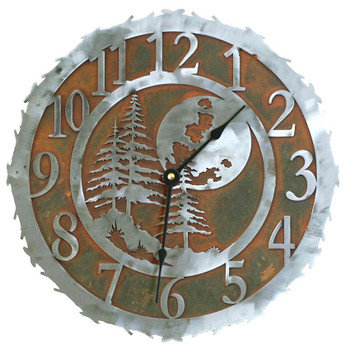 "12"" Midnight Moon Metal Wall Clock"