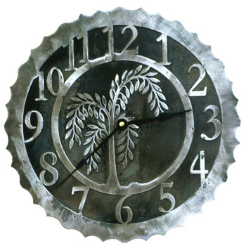 "12"" Willow Tree Metal Wall Clock"