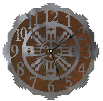 "12"" Sand Painting Metal Wall Clock"
