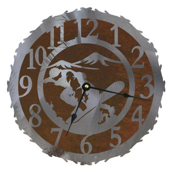 "12"" Snowboarder Metal Wall Clock"