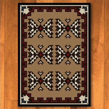 3' x 4' Cami Blanket Brown Southwest Rectangle Scatter Rug